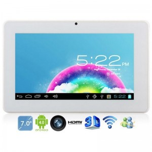 KO PARA7 Tablet PC 7-inch Android 4.0 4 GB 2G/GSM Monster Phone Dual Camera White