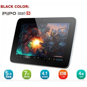 Pipo smart S3 Andriod 4.1 Tablet PC 7-inch DDR3 1 GB/8 GB WIFI Dual Core RK3066 Dual Camera 1024x600 pixels