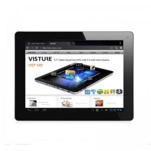 Visture V97 9.7-inch RK3188 Cortex A9 Quad Core 1.6 GHz Retina Screen Tablet PC , 5.0 MP Camera Auto Focus+ 2 GB RAM + 16 GB + WIFI + Bluetooth