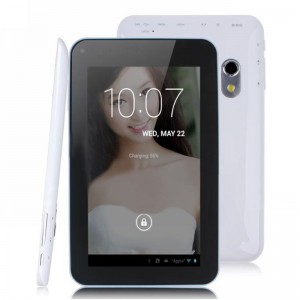 F30 7-inch Tablet PC Android 4.2 A20 1.0GHz Dual Core Capacitive Touch Screen 800*480 512 MB/4 GB Dual Camera White