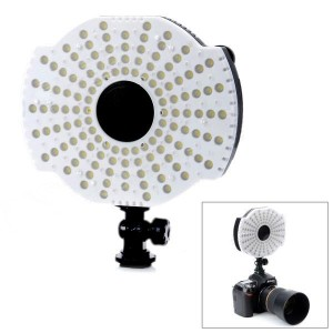 NanGuang CN126B 7.6W 650lm 5400/3200K 126-LED Video Light - Black (6 x AA)