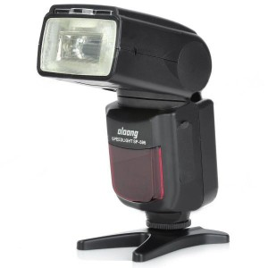 OLOONG SP595 Flash Speedlite Speedlight for Canon / Nikon / Olympus / Pentax Camera - Black