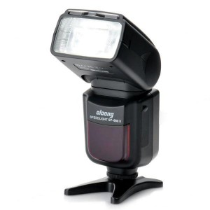 "SP-660II 2"" LCD Wireless TTL Speedlite Flash for Camera - Black (4 x AA)"
