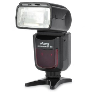 "OLOONG SP-690 2.0"" LCD Auto Focus I-TTL Digital Flashgun for Nikon - Black (4 x AA)"