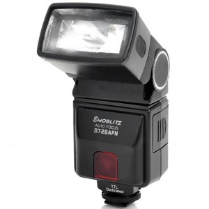 Emoblitz D728AFN Digital Autofocus Camera Speedlite for Nikon i-TTL - Black