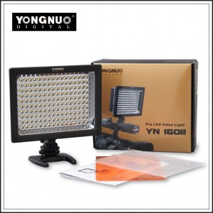 New YONGNUO YN-160s LED Video Light for Canon Nikon Pentax Panasonic SLR Cameras