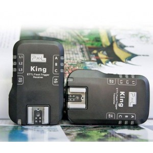Pixel King E-TTL Radio Flash Trigger for Canon 2 Receivers 580EX 550EX 430EX 5D2