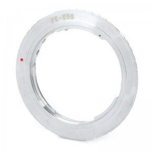 Pentax PK Lens to Canon EOS Lens Mount Adapter Ring - Silver (55mm)