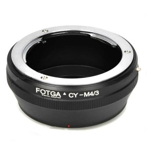 FOTGA Contax Yashica C/Y Lens to Olympus M4/3 Adapter Ring - Black
