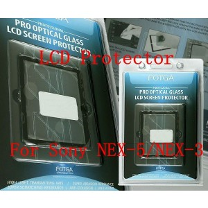 Fotga LCD Glass Screen Protector for Sony NEX-3 NEX-5