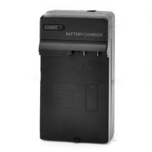 Compact Battery Charger for Canon BP-406 / BP-412 / BP-422 - Black (2-Flat-Pin Plug)
