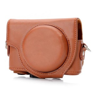 Protective PU Leather Camera Case Bag for Sony DSC-RX100 - Brown