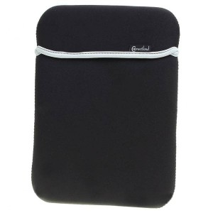 "Protective Waterproof Soft Dual-Sided Carrying Bag for 10.2"" Laptops (Black + Grey)"