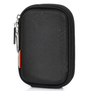 ISMARTDIGI Dual-Zipper Protective Oxford Fabric Bag Case w/ Carabiner Clip for Camera - Black