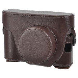 Protective PU Leather Case Bag for Fujifilm X100 - Brown