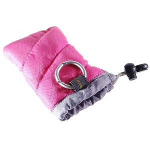 Pisen Protective Soft Pouch for Digital Cameras - Pink (12cm*8cm)