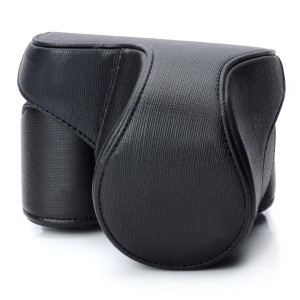 Protective PU Leather Camera Case Bag for Sony NEX-F3 - Black