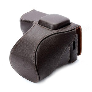 Protective PU Leather Camera Case Bag for Sony NEX-5N - Brown