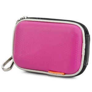 Universal Protective PU Leather Bag Case for Digital Camera - Deep Pink