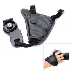 Debo D11 PU Leather Wrist Strap Hand Grips for Canon Sony Olympus Nikon DSLR / SLR Camera - Black
