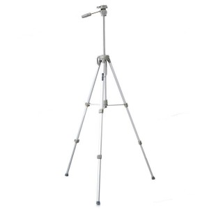 K-2015 Retractable Aluminum Alloy 4-Section Tripod Stand - Silver + Grey (Max. Load-8KG)