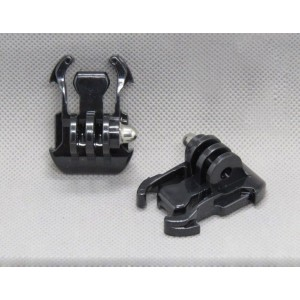 (2x lot) Liquc Black Buckle Basic Strap Mount For Gopro Hero 1 / 2 / 3 Camcorder
