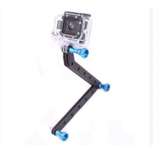 CNC Aluminum Arms and Screw for Gopro HD Hero3 ( Green screw )