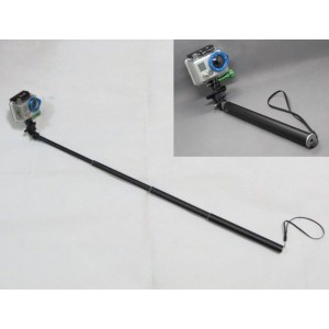 Liquc Telescoping Extendable Pole Handheld Monopod with Tripod for Gopro Hero2 3