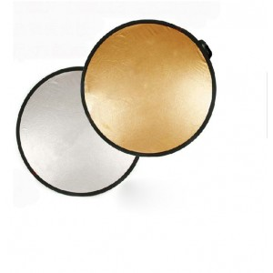 "24"" 60cm Gold Silver 2 in1 Light Mulit Collapsible disc Reflector"