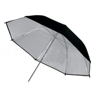 "2 x 43"" Photo Studio Black Silver Reflective Umbrella For Video Lighting Kit"