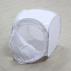 Folding Photo Studio Softbox Light Tent w/ Colored Background Cloth (50cm)