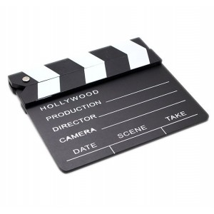 Wooden Hollywood Movie Film Prop Directors Clapper Board