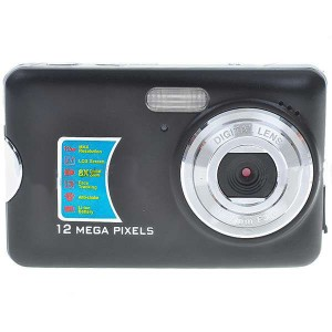 "2.7"" LCD 5.0 MP CMOS Digital Camera Camcorder with 8X Digital Zoom/SD Card Slot/Anti-Shake - Black"