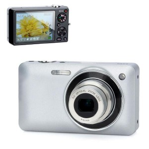 "HDC_X5C 2.7"" TFT 5.0MP 5X Optical Zoom Digital Camera - Silver + Black"