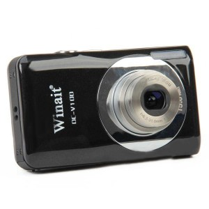 "DC-V100 5.0MP CMOS Digital Video Camera w/ 5X Optical Zoom / SD - Black (2.7"" LCD)"
