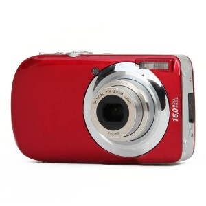 "DC-110 3.0"" LCD TFT Max 16MP 5X Optical Zoom Digital Camera - Red"