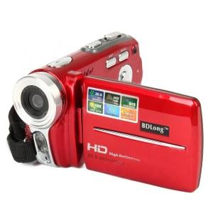 "HD-200 3.0"" TFT LCD 5.0MP CMOS Digital Camera Camcorder w/ 16X Digital Zoom - Red"