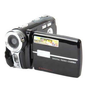 "DV-108 3.0"" TFT LCD 5.0MP CMOS Digital Camera Camcorder w/ 16X Digital Zoom - Black"