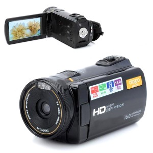 3.0'' LCD  5.0MP CMOS HD Digital Video Cameras Camcorder w/ 3X Digital Zoom - Black