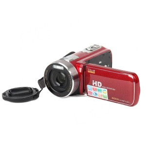 "3.0"" TFT Touch LCD 5.0MP CMOS HD Digital Camera Camcorder w/ 600X Zoom - Red"