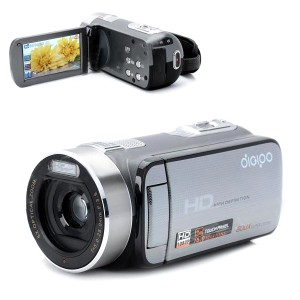 DIGIPO HDV-S590 5.0MP CMOS HD Camcorder w/ 3.0'' Touch LCD / 5X Optical Zoom / 120X Digital Zoom