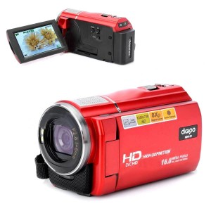 "DIGIPO HDV-X1 5.0MP CMOS Digital Camera Camcorder w/ 3.0"" TFT / 8X Digital Zoom - Red"