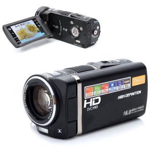 "DIGIPO HDV-S790 10MP CMOS HD Camcorder w/ 3.5"" TFT 10X Optical Zoom - Black"