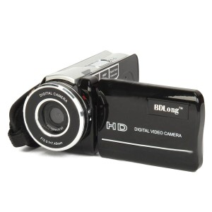 "HD-669 3.0"" TFT Max 16MP Pixels Digital Camcorder W/ Music Player + Telescope Lens - Black"