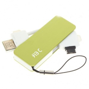 Mini 18-Pin Multi-Function USB Charger with TF Card Reader for LG KG70 + More