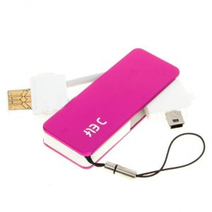 Mini 5-Pin Multi-Function USB Charger with TF Card Reader for Moto/Dopod/Nokia + More