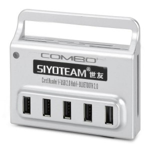 3-in-1 USB 2.0 5-Port Hub + Bluetooth 2.0 + TF / SD / MS / M2 / XD / Mini SD Card Reader