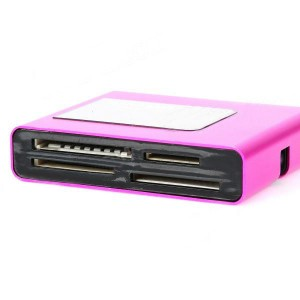 SY-660 USB 2.0 Multi-in-One Memory Card Reader - Deep Pink (Max. 32GB)
