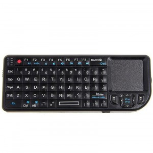 Rii Compact 2.4GHz Mini Wireless Keyboard and Touchpad for Mobile /PC /Presenter Use (Black)