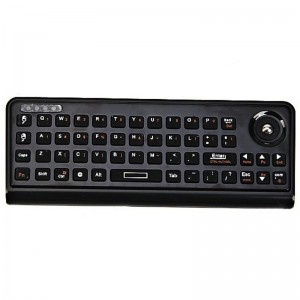 AK810 Compact 3 in 1 2.4GHz Mini Smart Handheld Air Mouse Wireless Keyboard Combo Remote Control (Black)